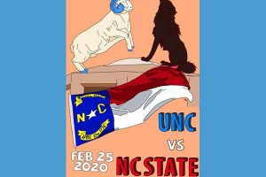 UNC vs. N.C. State poster